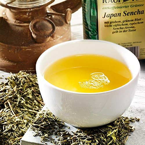 Rauf Tee grüner Tee – Japan Sencha entkoffeiniert – 2x100g