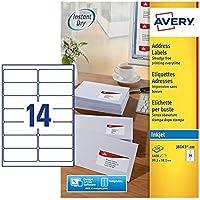 AVERY - Boite de 1400 étiquettes d'adressage autocollantes, Personnalisables et imprimables, Format 99,1 x 38,1 mm…