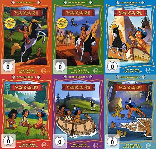 Preisvergleich Produktbild Indianerjunge YAKARI - GESCHENKBOX komplett 1 2 3 4 5 6 DIE TV-SERIE 12 DVD + 12 CD Hörspiele Box Edition