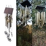Calistouk - 10 piezas campanillas de tubos con patrón de mariposa para decoración del hogar