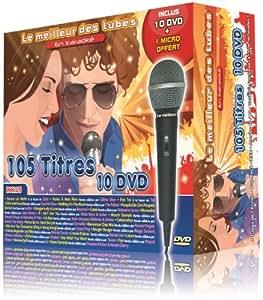 Le Meilleur Des Tubes En Karaoké : 2013 Coffret 10 DVD 105 Tubes + 1 Micro