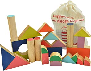 Shumee Wooden Chalk-O-Block Toys Set (3 years+) - Build & Learn
