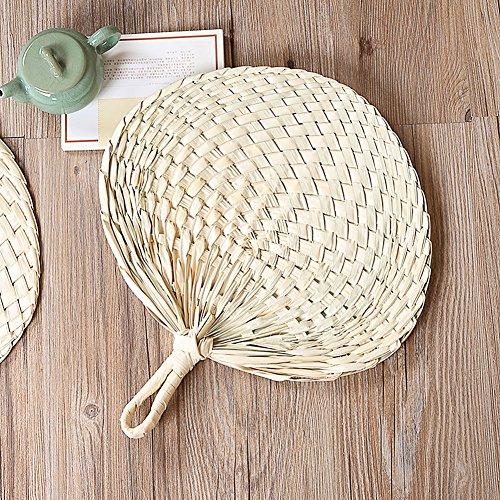 Chinesischer Stil Hand Fan natur Hand Weave Palm Leaf Fan Klinge Handheld Kühl Fan für Outdoor Camping Wandern