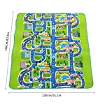 Kids Carpet Playmat Rug City Life Road Playmat Toy Kids Great For Playing With Cars and Toys Play Learn and Have Fun Safely Kids Baby For Bedroom Play Room Game Safe Area