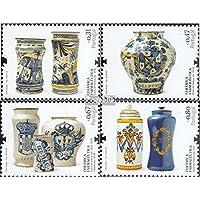 Portugal 3329-3332 (completa.edición.) 2008 Farmacéutica Keramikgefäße (sellos para los coleccionistas) Vidrio / Cerámica / Porcelana