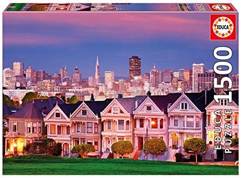 Educa 17119.0 - 1500 Painted Ladies Puzzle, San Francisco
