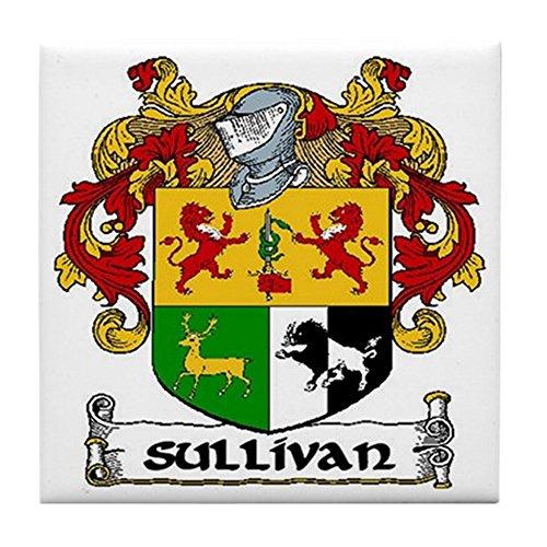 CafePress–Sullivan Wappen Keramik Fliesen–Tile Untersetzer, Drink Untersetzer, Untersetzer, Klein (Gälische Geschichte)