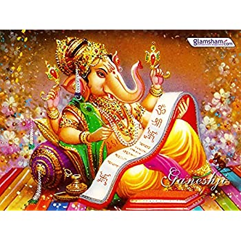 Gods Lord Ganesh On Fine Art Paper Hd Quality Wallpaper Poster
