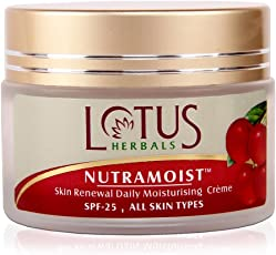 Lotus Herbals Nutramoist Skin Renewal Daily Moisturising Creme with SPF 25, 50g