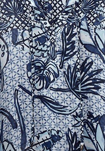 CECIL Damen Bluse mit Mustermix cobalt blue (blau)