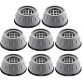 FOURY 8Pcs Washing Machine Stand Anti Vibration Pads Washer Foot Pads Dryer Heightening Pads Stabilizer Support Stand for Hom