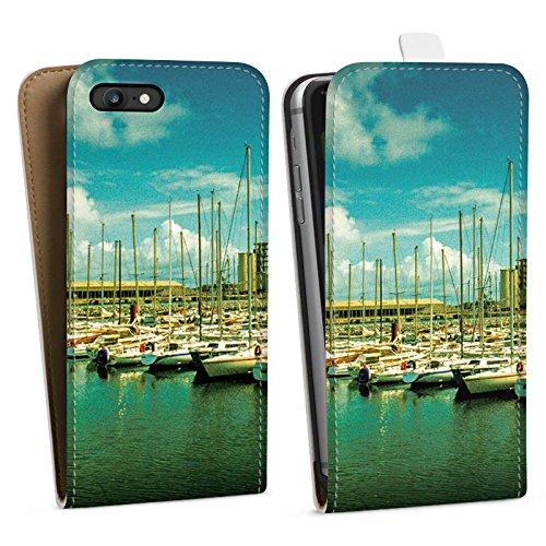 Apple iPhone X Silikon Hülle Case Schutzhülle Hafen Boote Schiffe Downflip Tasche weiß
