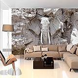murando - Fototapete 300x210 cm - Vlies Tapete - Moderne Wanddeko - Design Tapete - Wandtapete - Wand Dekoration - Tiere Elefant Steine Stein Afrika Reise Textur g-B-0007-a-d