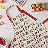 London Icons Children's Apron - Fun Kid's Apron - Made in Britain of 100% Cotton