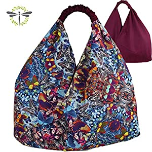ORIGAMI-TASCHE Damen Shopper Einkaufstasche Schultertasche - Schmetterlinge