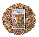 Bright Rainbow Sugar Strands cake sprinkles 30g for cake or cupcake decorations