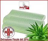 Coppia cuscini VENIXSOFT anticervicale in LINFA DI ALOE VERA effetto rilassante e riposante-DISPOSITIVO MEDICO CLASSE I-MEMORY FOAM TRASPIRANTE.Fodera cotone sfoderabile.MADE IN ITALY mis70x40x10-12cm