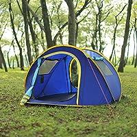 Huilingyang La tienda de campaña portátil y establecer automáticamente 3-4 personas Campamento para Viaje