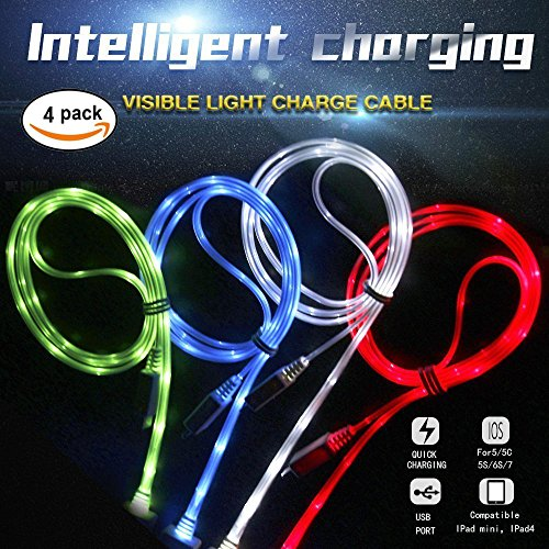 cdycam 4 Glow in the Dark Tricks LED USB Daten Sync Ladegerät Kabel Ladekabel für iphone 7/7 Plus/6/6 Plus/5s/5c/5