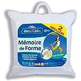 Bleu Câlin OMFW85065 Oreillers Mémoire de Forme Blancs 65x65 cm set de 2