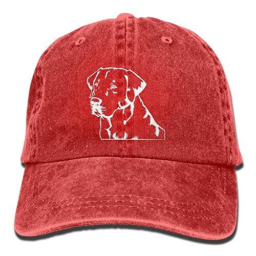 dcfae486454 BUZRL Lab Labrador Retriever Unisex Adjustable Cotton Denim Hat Washed  Retro Gym Hat Cap Hat