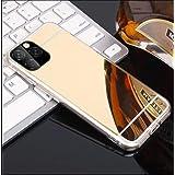 كفر المرآة من البولي يوريثان لهواتف آيفون كفر حماية الجوال حافظة أكريليك (iPhone 11 Pro, golden)