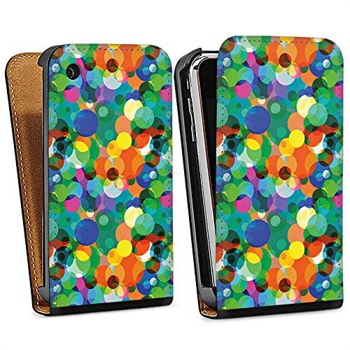 Apple iPhone 4 Housse Étui Silicone Coque Protection Points Motif Motif Sac Downflip noir