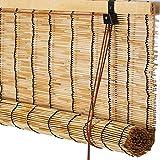 YA Jalousien Rollo Bambus Vorhang - hochwertige Reed Machen dekorative können LiftingCurtainsWaterproof und Anti-Fog Retro Sonnenschutz Vorhang 3 Farben - Größe kann angepasst Werden Atmungsaktivität