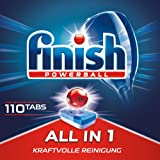 Finish All in 1 Dishwasher Tablets, Dishwashing Tabs for Powerful Cleaning, Dishwashing Liquid, 110 Tabs (1.76 kg)