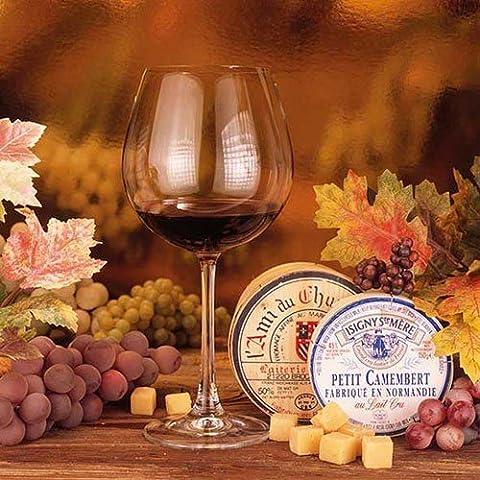 20er Pack Servietten Wein und Käse 33 x 33 cm