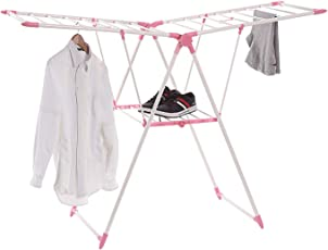 TIED RIBBONS Cloth Drying Stand Foldable Stainless Steel for Balcony Home(Powder-Coated Steel)