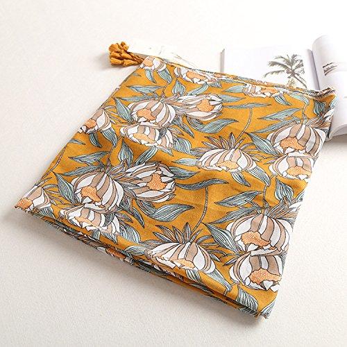 Gardenia-geschenk-set (OME&QIUMEI Frühling Und Sommer Schal Aus Baumwolle Gardenia Drucken Schal Weiblichen Strandtuch Alle-Dual-Use-Sunscreenshawl)