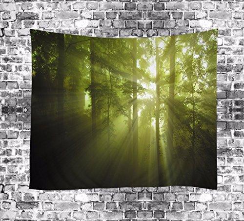 JCDZH-FT Digitaldruck Bambus Tischdecke Strand Handtuch Dekoriert Tapisserie 150 * 130cm