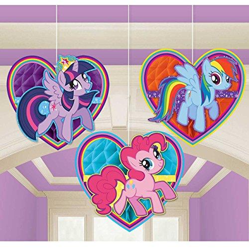 Amscan International 295513My Little Pony Honeycomb Dekoration Kit