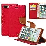 REXANG iPhone 8/7 Plus Hülle Leinwand Flip cover Schutz [Magnetische Verschluss] [Brieftasche und Kartenslots] Bookstyle Tasche [mit Stand Funktion] Leder TPU Taschen Schalen für iPhone 7/8 Plus
