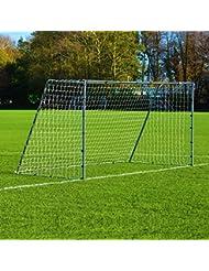3,7 x 1,8m FORZA Stahl42 Fußballtor (das stabilste tragbare Stahl Fußballtor & Netz-Paket mit Option für Trainings Torwand)