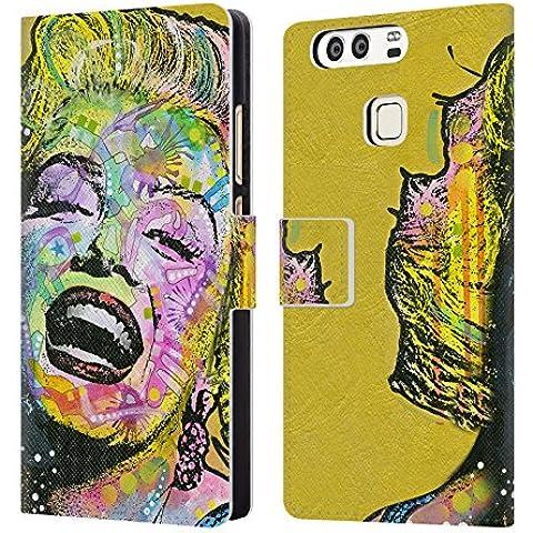 Ufficiale Dean Russo Marylin d'oro Iconico 2 Cover a portafoglio in pelle per Huawei P9