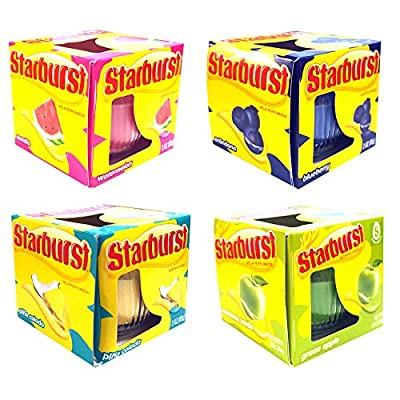4 x Official Starburst Scented Candles - Includes Piña Colada, Green Apple, Watermelon, Blueberry from My Planet