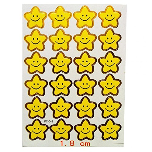 ELECTROPRIME 240 Smile Star Stickers Kids Teacher Labels Reward Craft Scrapbook