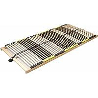 DaMi Lattenrost Relax 70 x 200 cm - 7 Zonen Lattenrahmen Aus Buche Mit 6-Fach Härteverstellung (Starr)