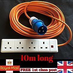 Prolunga da 10 m per allacciamento camper con presa inglese a 4 vie, 13A e 16A Markuk®