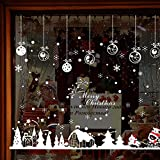 Culater® Christmas Snowflakes Town Window Wall Stickers for Home Decor 60*90cm (G)