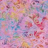 Lila 100% Baumwolle Bali Batik tie dye Muster Stoff für