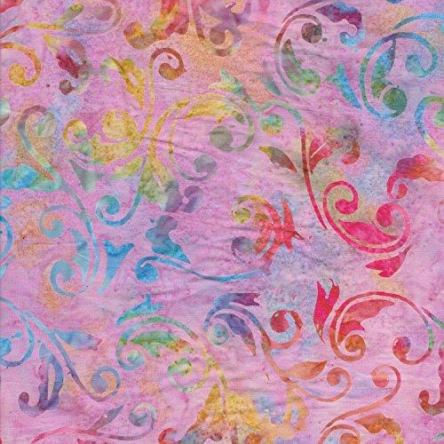 Lila 100% Baumwolle Bali Batik tie dye Muster Stoff für Patchwork und Quilten-(Preis pro/Quarter M (Etsy Ebay)