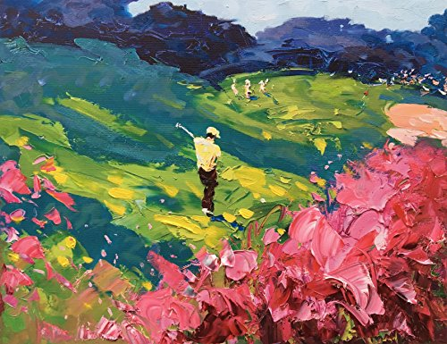 augusta-master-golf-club-original-mixed-media-painting-oil-on-canvas-one-of-a-kind-fine-art-golfer-s