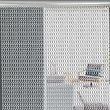 Cortina de cadenas de aluminio de primera calidad, cortina mosquitero de aluminio de 90 x 210 cm, con ajuste para puertas estándar de 90 x 210 cm