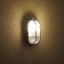 Biard Lámpara de Pared para Exteriores (E27, Color Negro) - Aplique Mural Ovalado