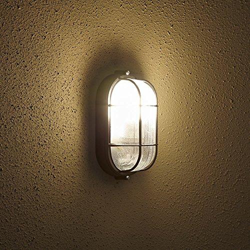 Biard Lámpara de Pared para Exteriores (E27, Color Negro) - Aplique Mural...
