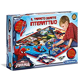 Clementoni 13276 – Spiderman Ultimate Tappeto Gigante Interattivo