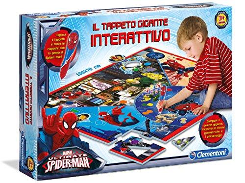 Clementoni-13276Matte Spiderman Riesen Interaktives